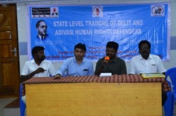 State level training of Dalit & Adivasi Human Rights Defenders on 25th Feb 2018