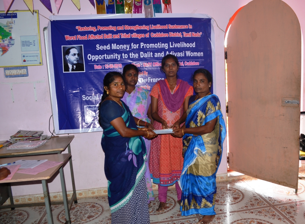 Seed Money for Promoting for Livelihood opportunity to the Dalit & Adivasi Women-6